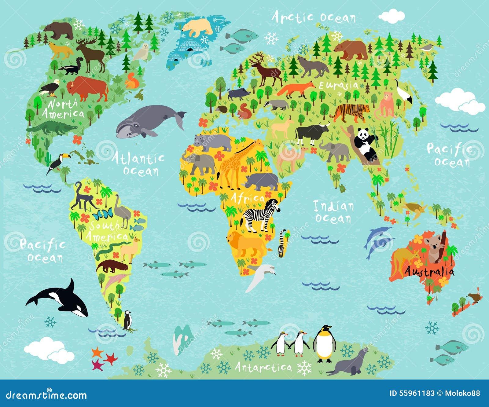 Mapa ilustracyjny stary świat