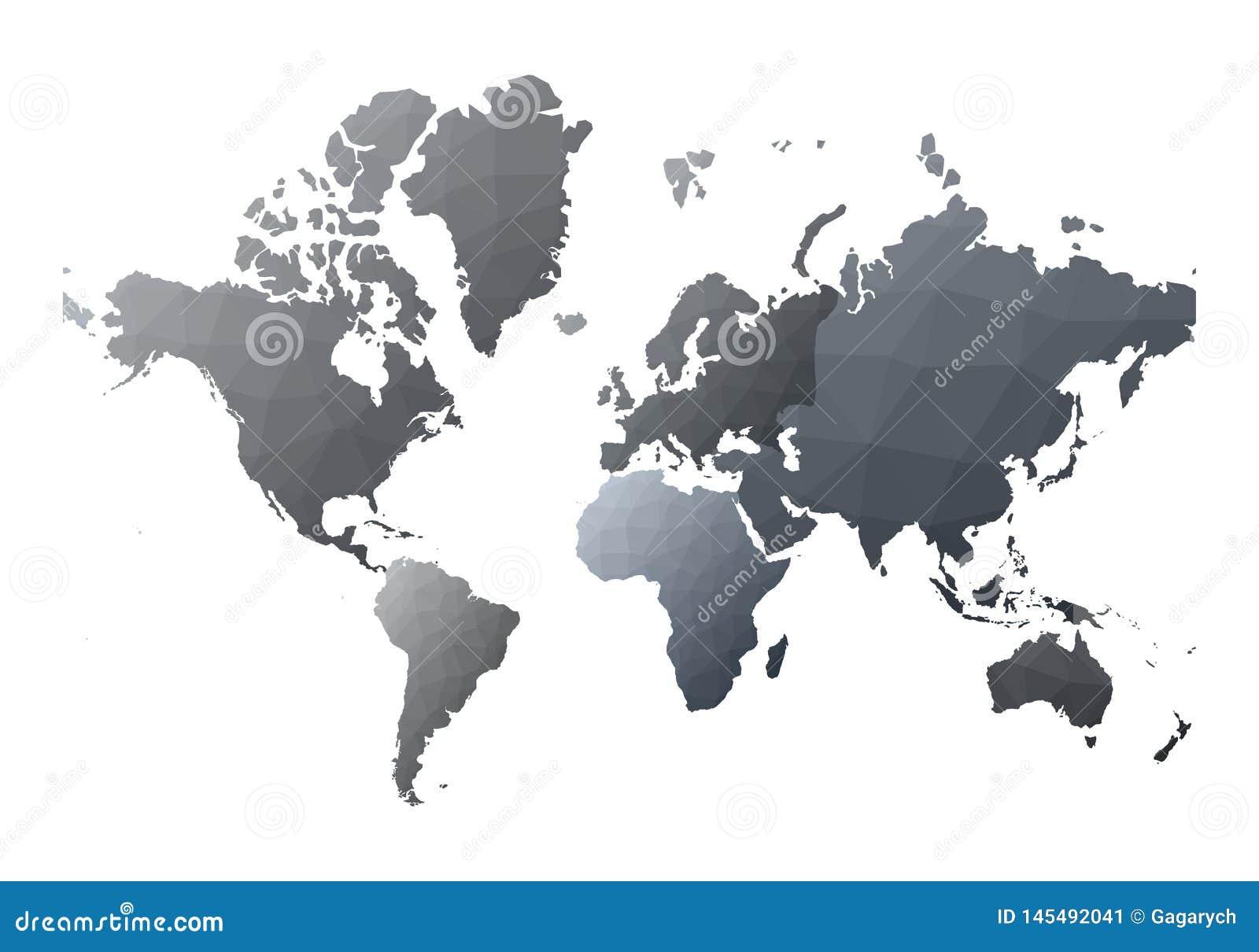 Mapa ilustracyjny stary ?wiat klasyczni niscy poli- stylowi kontynenty
