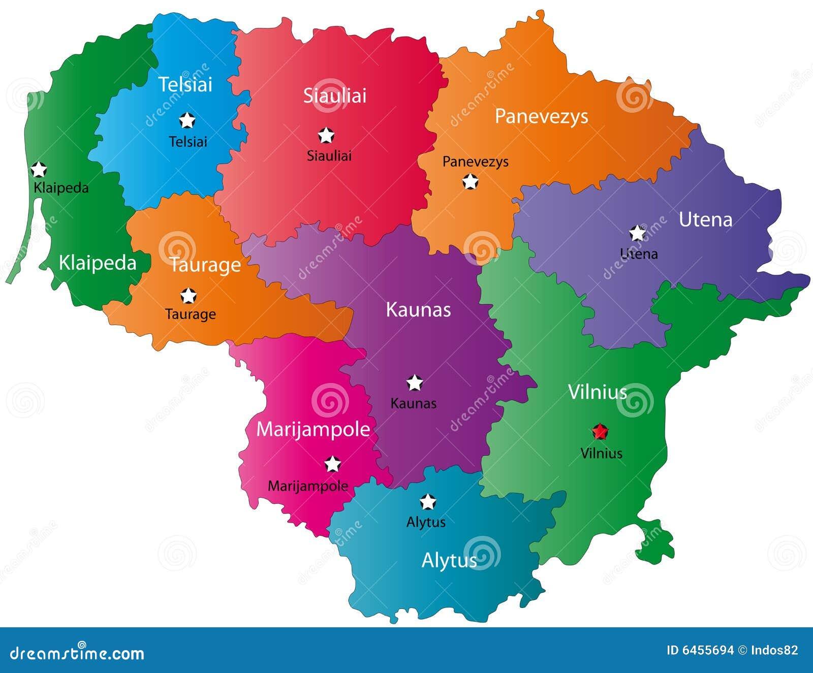 Mapa Lithuania