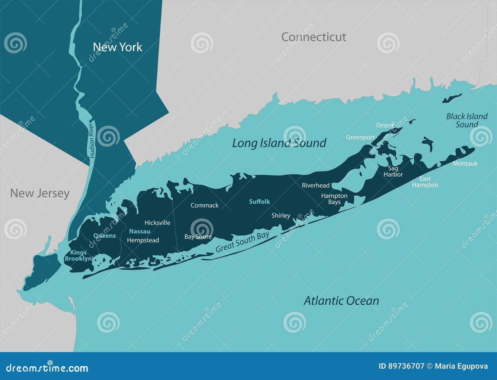 Mapa Long Island