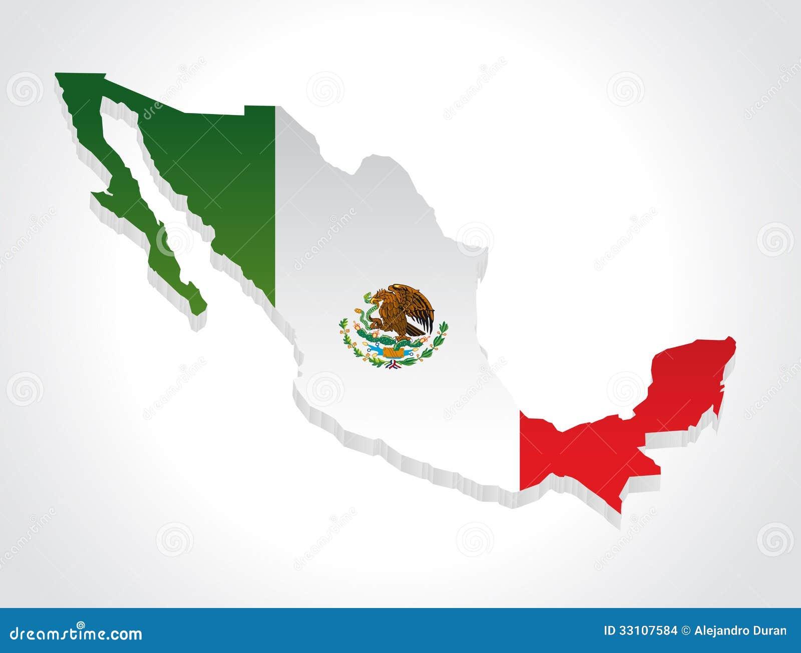 Icono Mapa Mexico Png: Mapa México 3d Ilustración Del Vector. Ilustración De