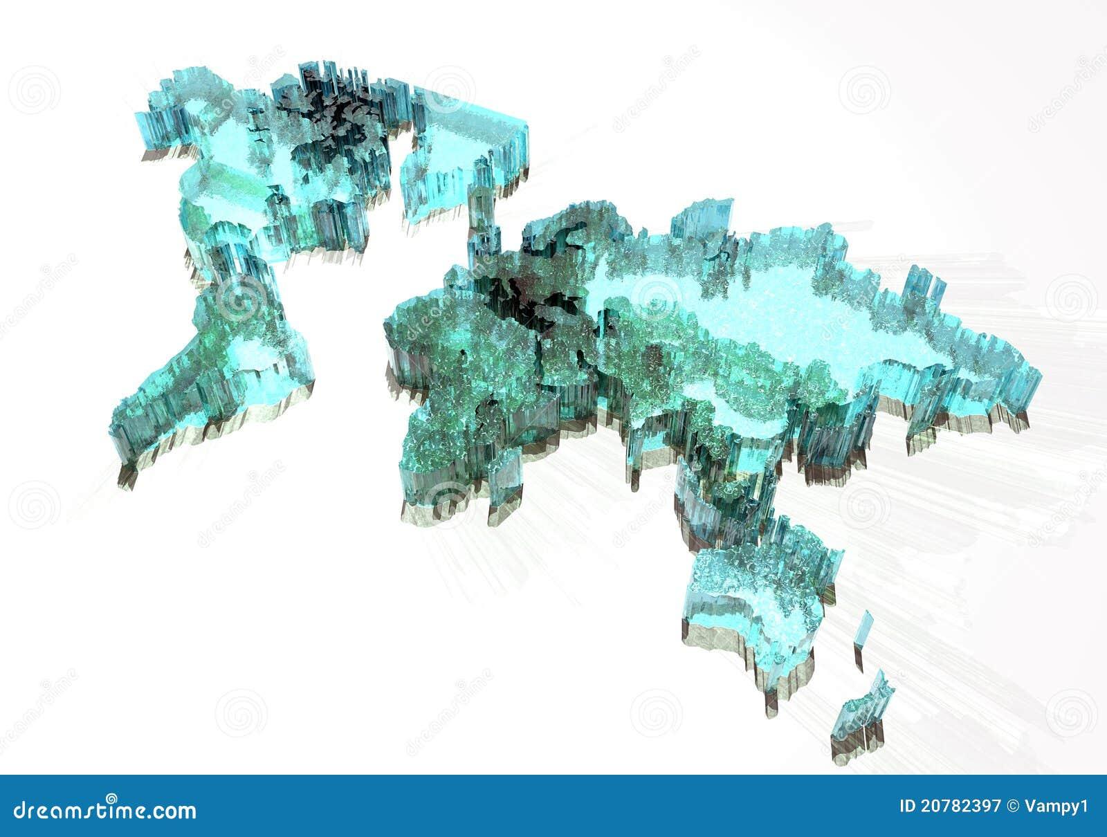 Mapa marznący lukrowy świat