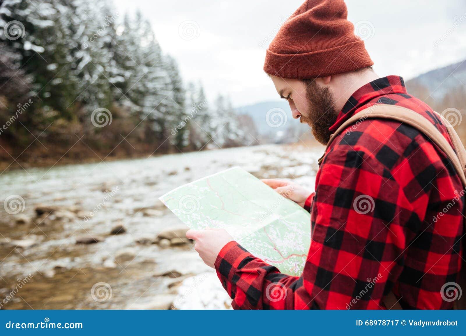 Mapa masculino de la lectura del caminante