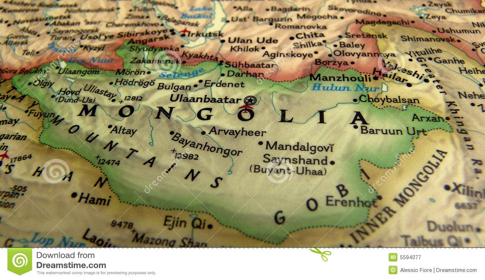 Mapa Mongolia