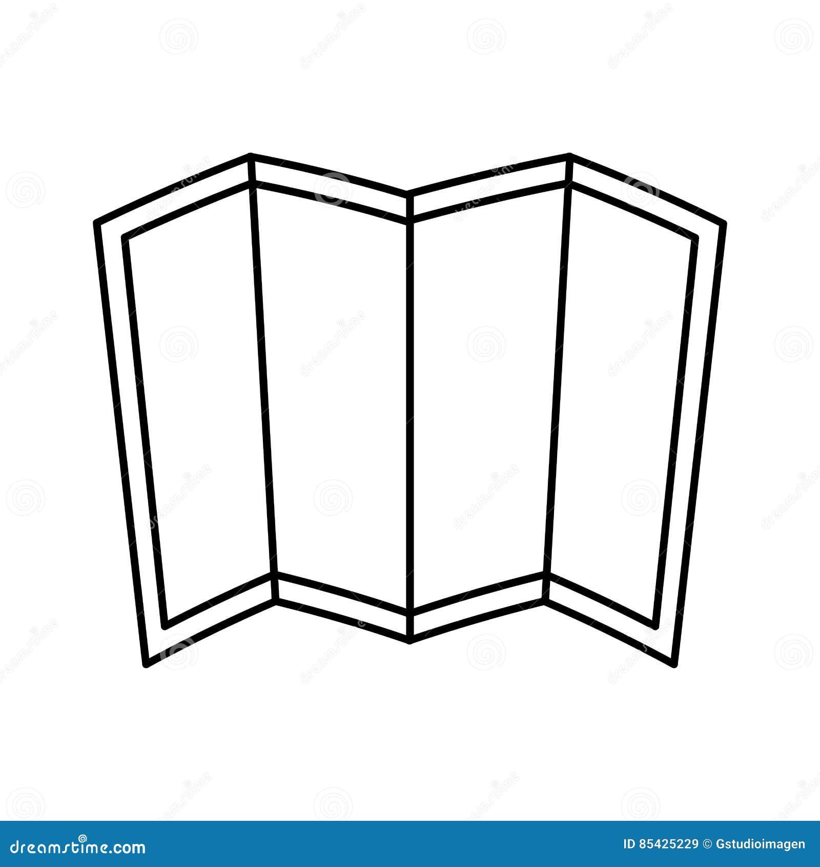 Mapa papierowego przewdonika ikona