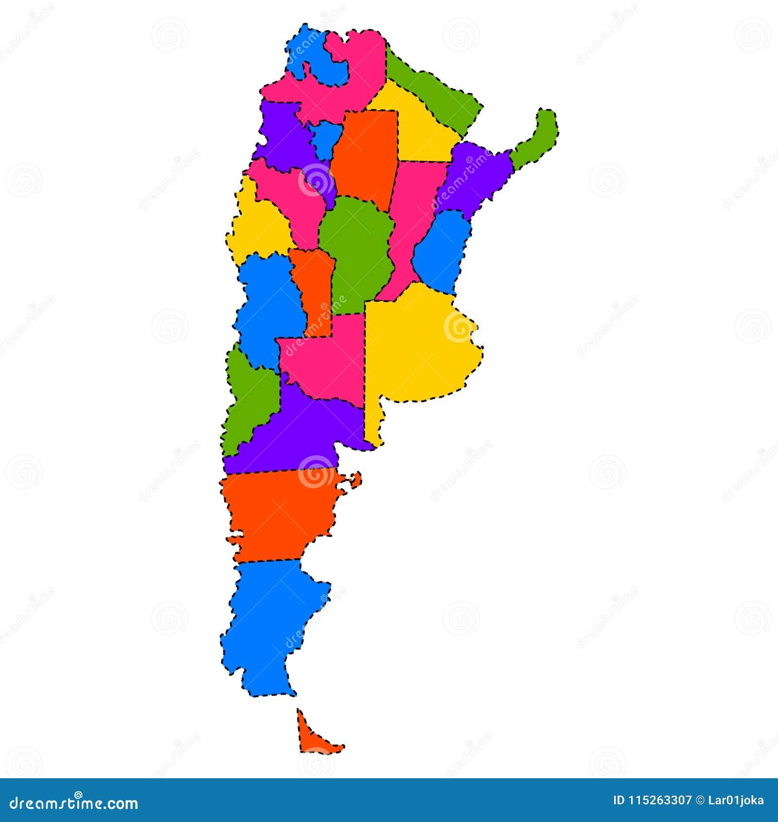 Mapa Politico De La Argentina Ilustracion Del Vector Ilustracion De Politico Mapa 115263307