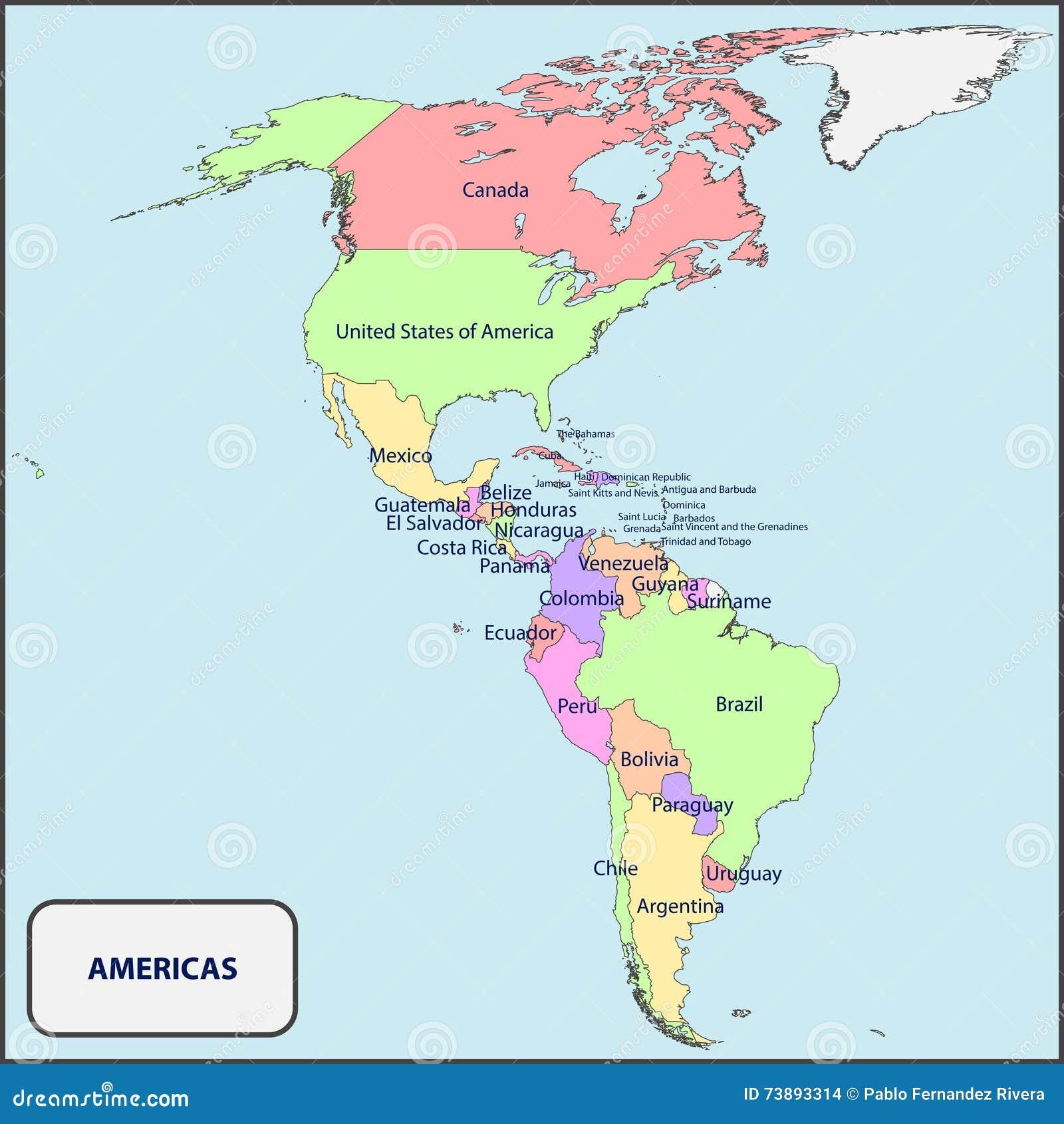 Libre De Derechos Download Mapa Politico De Las Americas