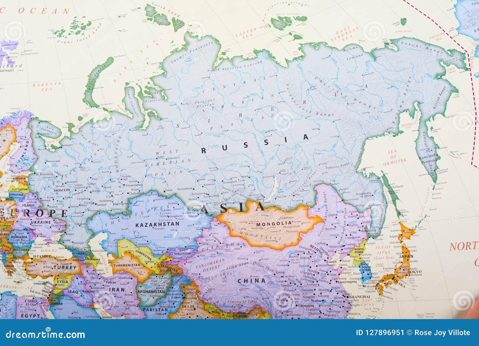 Mapa Rosji Obraz Stock Obraz Zlozonej Z Wyznaczajacy 127896951