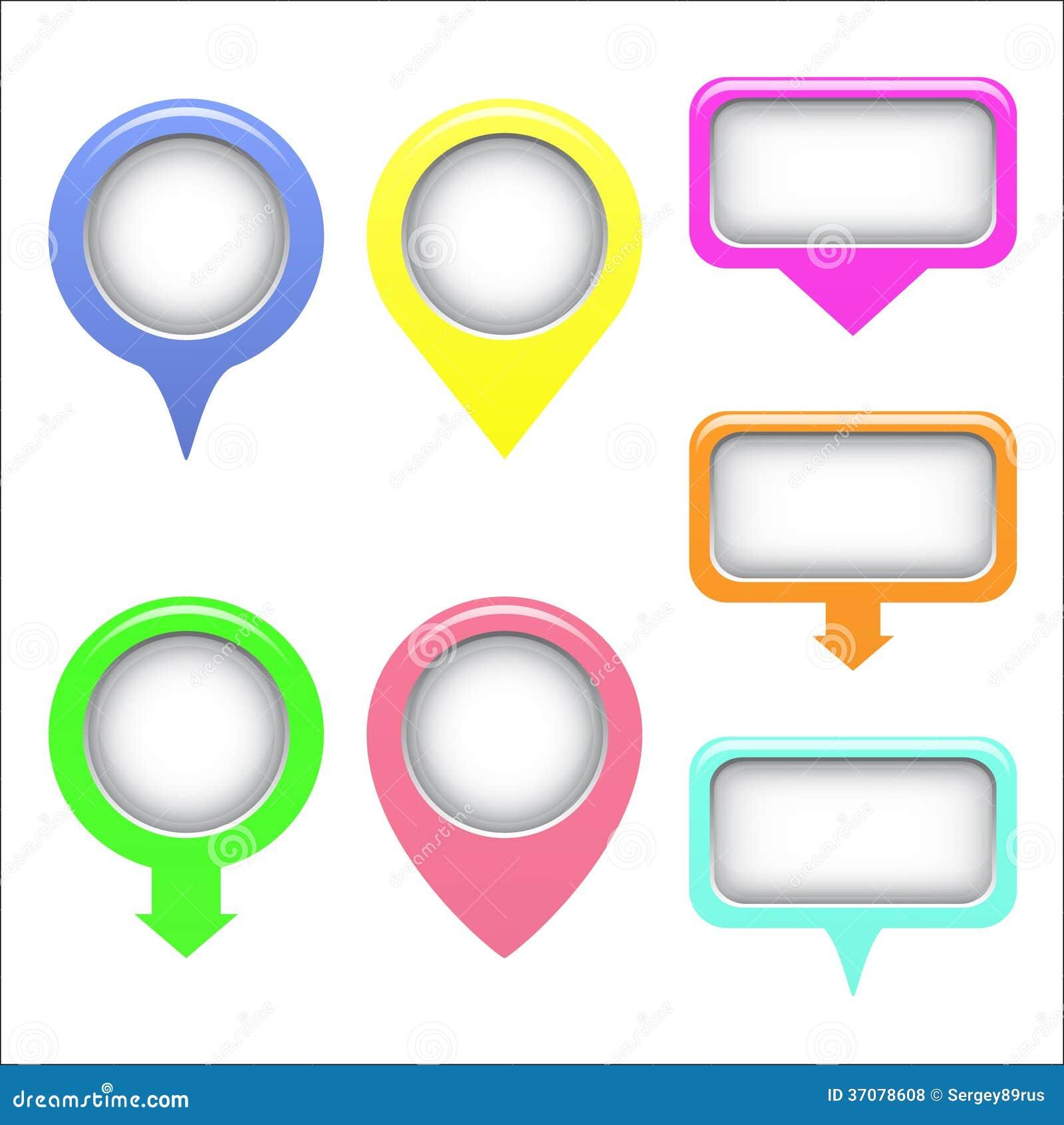 Download Mapa set pointery. ilustracja wektor. Ilustracja złożonej z niepowodzenia - 37078608