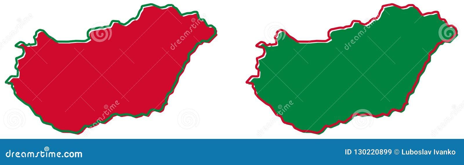 Mapa simplificado del esquema de Hungría El terraplén y el movimiento son nacionales