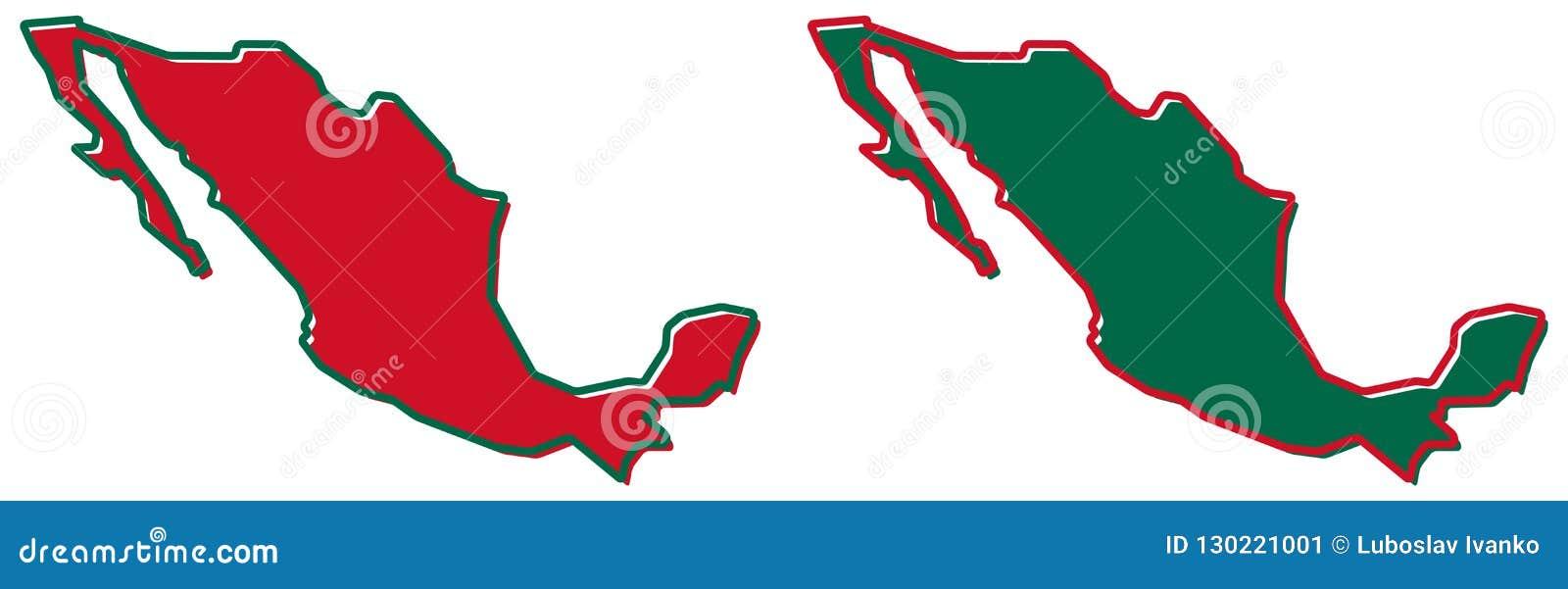Mapa simplificado del esquema de México El terraplén y el movimiento son c nacional