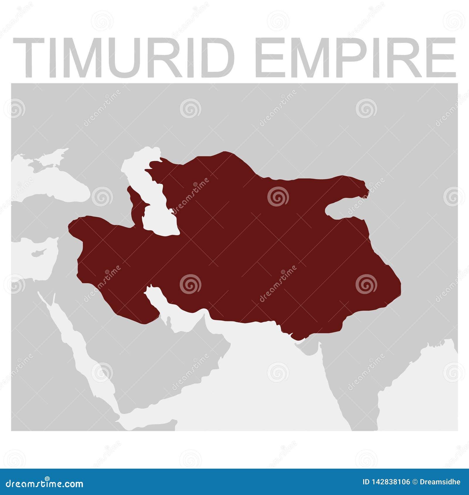 Mapa Timurid imperium