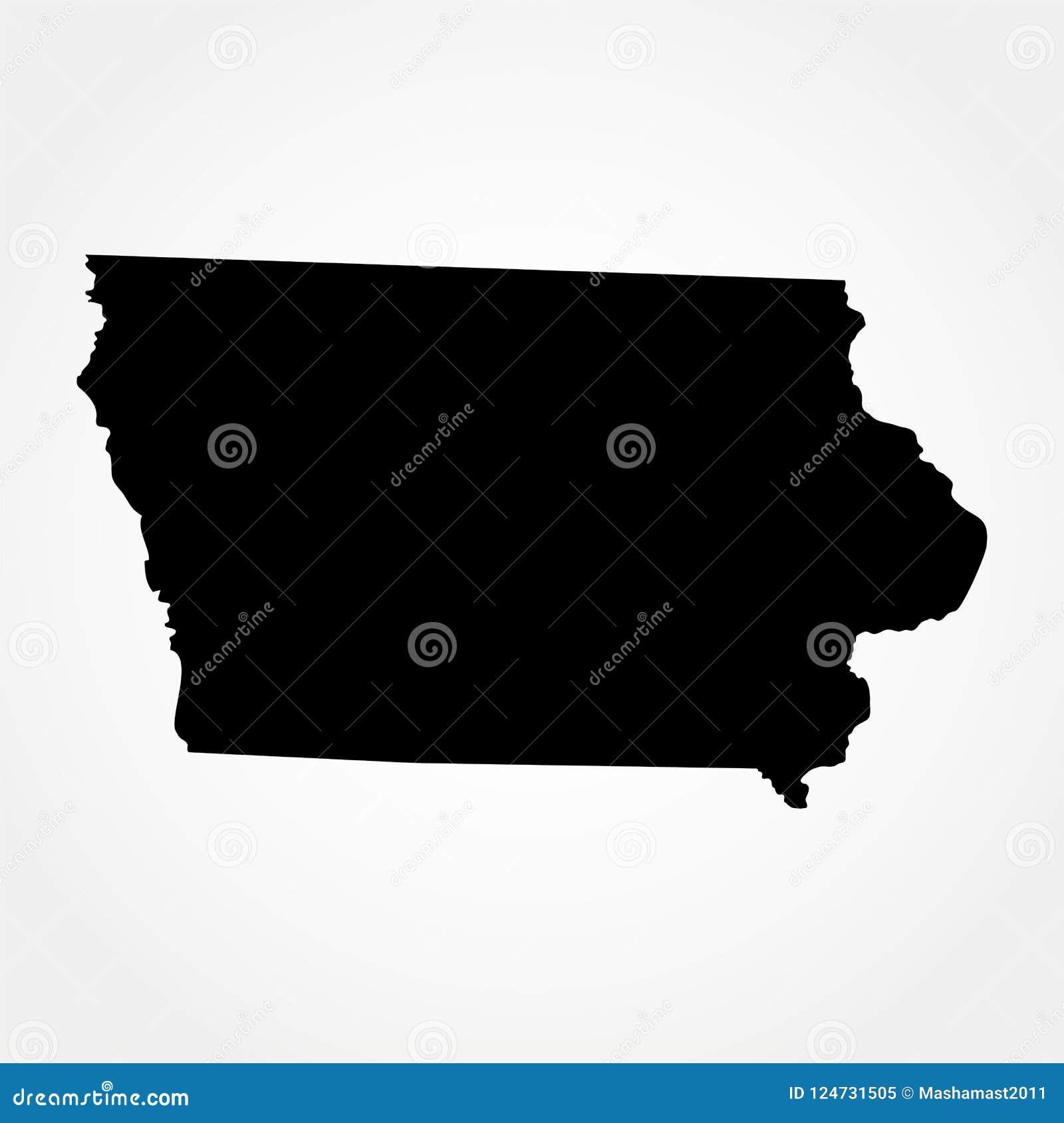 Mapa U S iowa state