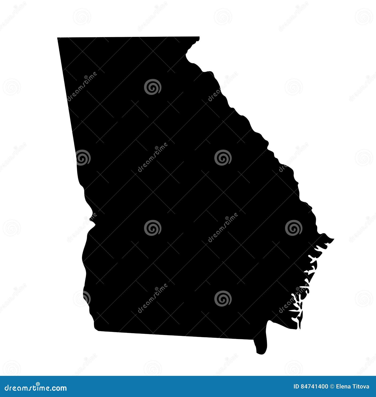 Mapa U S stan Gruzja