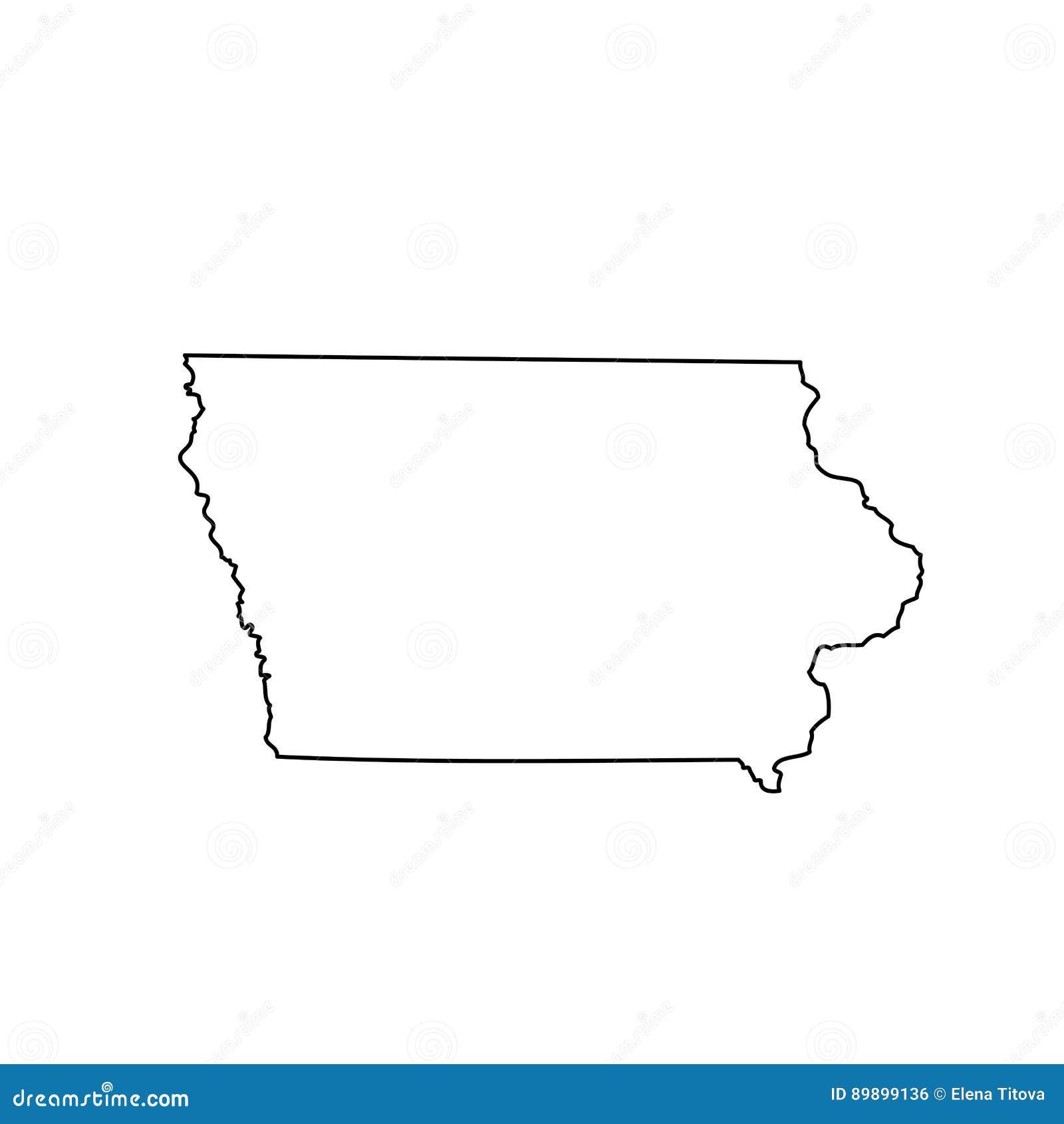 Mapa U S stan Iowa