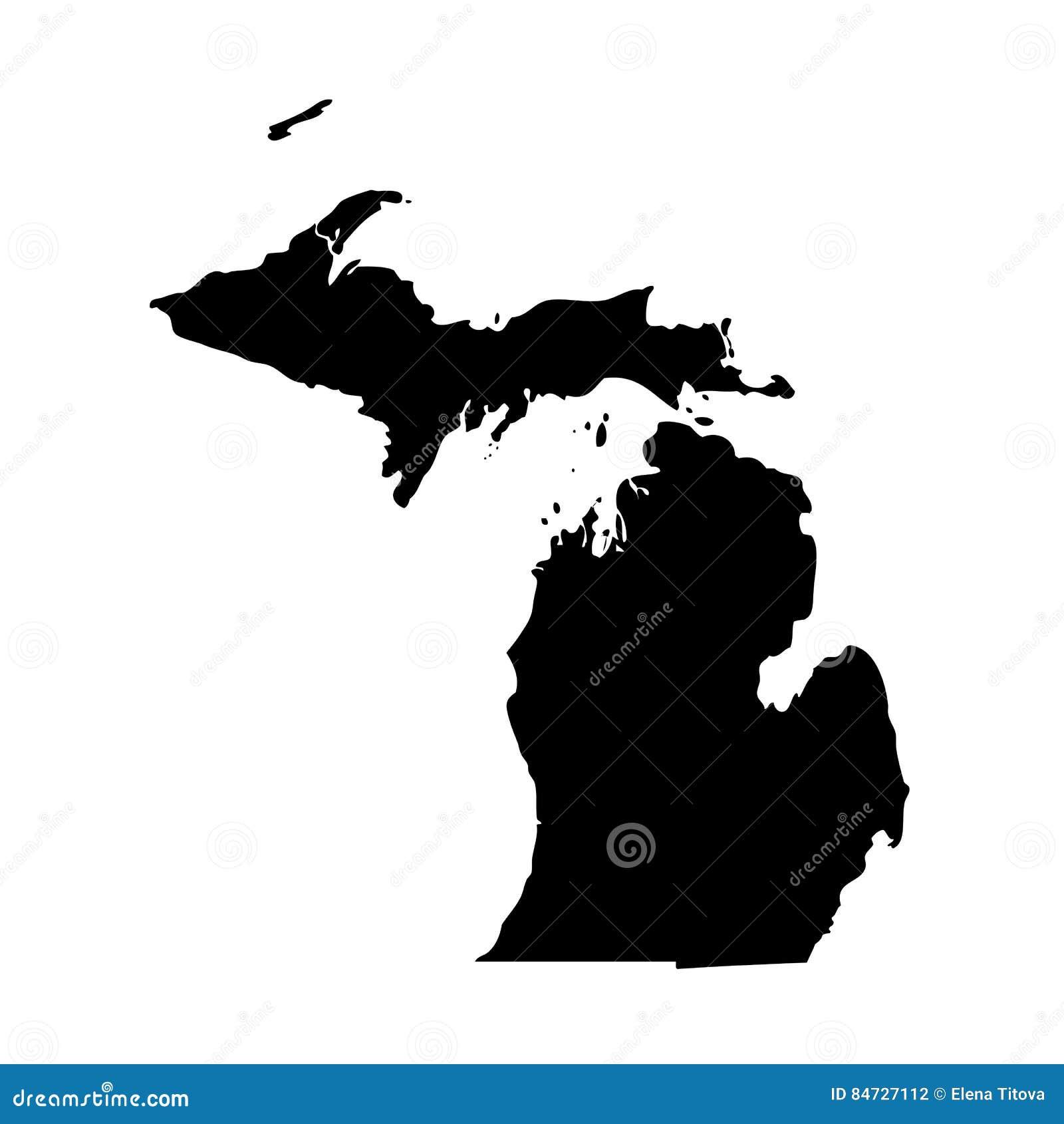 Mapa U S stan Michigan