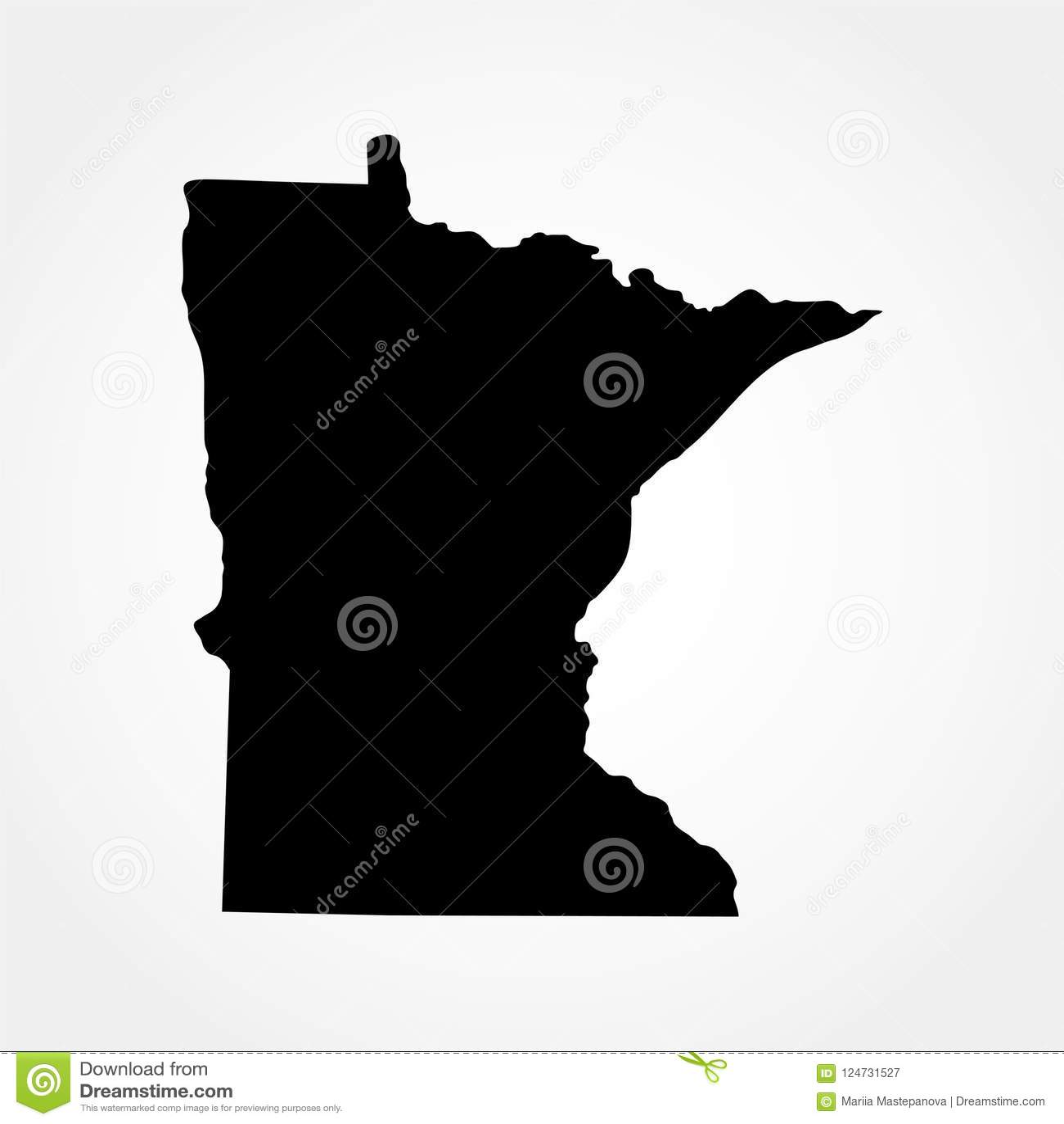 Mapa U S Stan Minnestoa