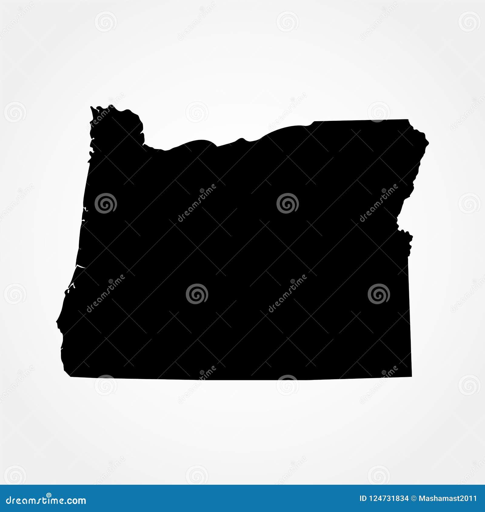 Mapa U S stan oregon