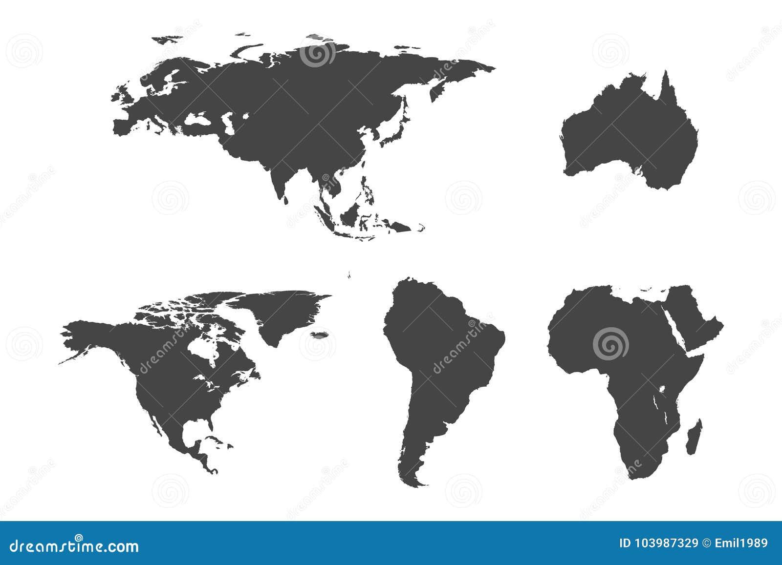 Mapas continentes fijados