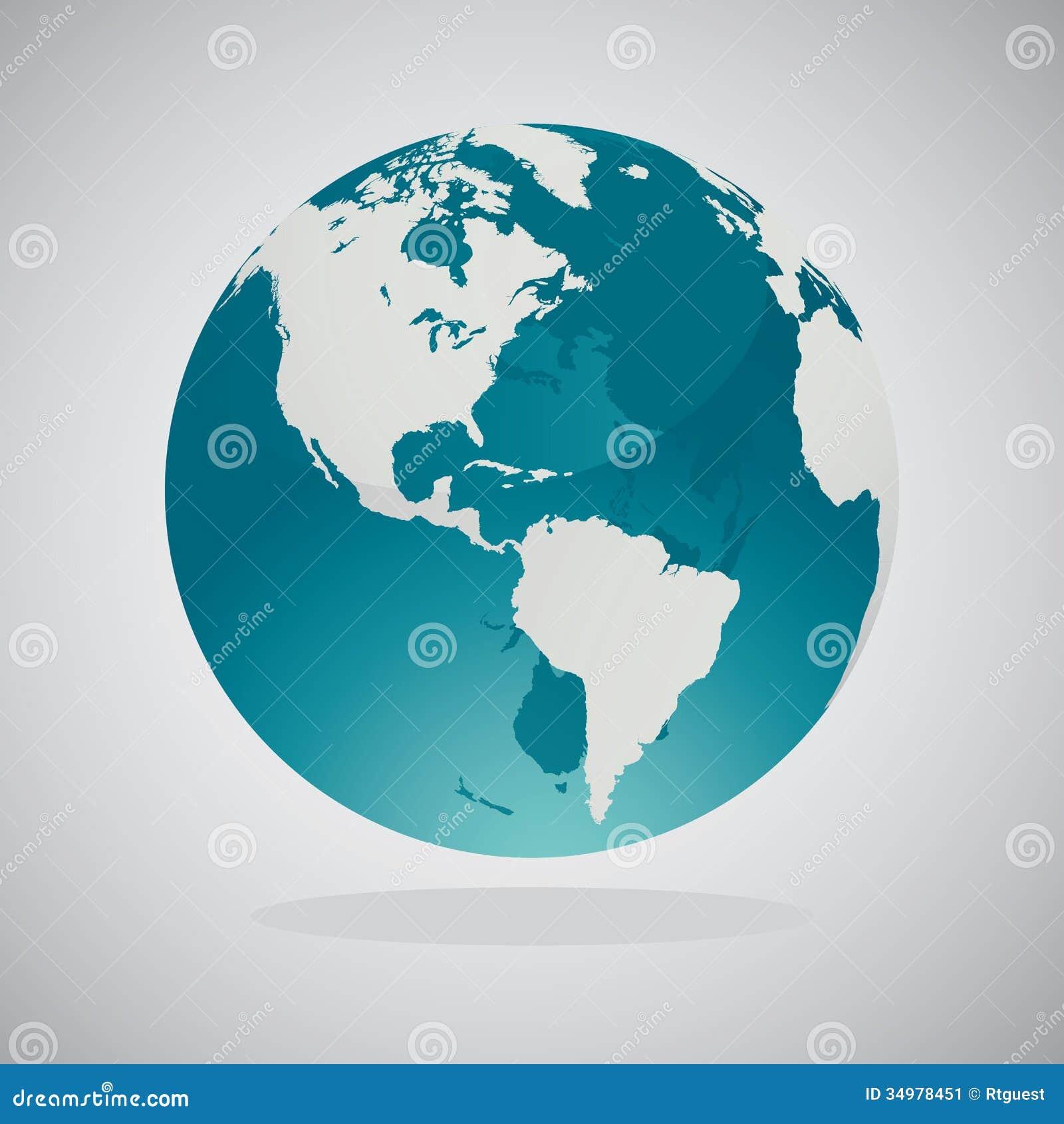 Mapas del globo del mundo - diseño del vector