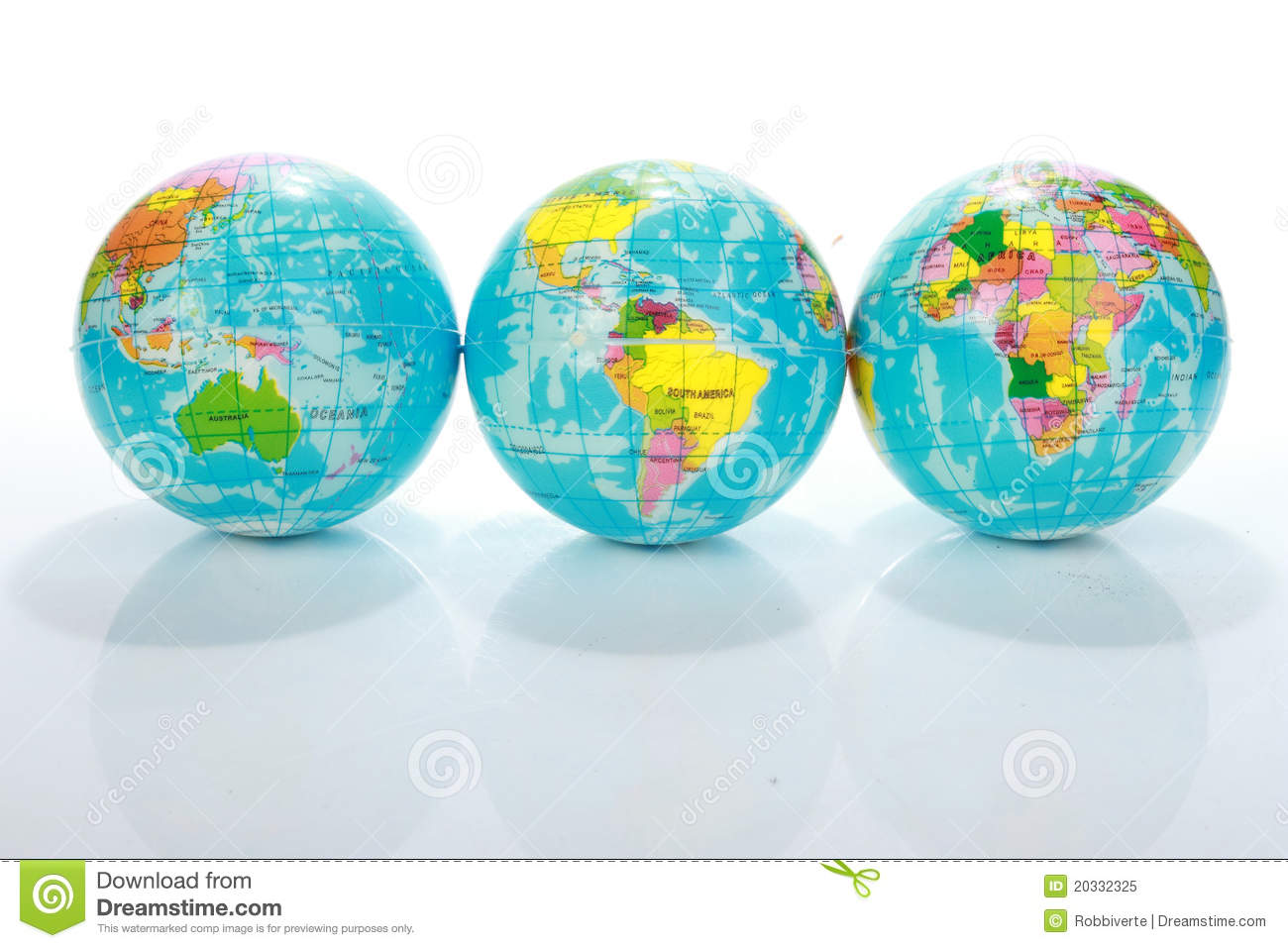 Mapas do globo do mundo