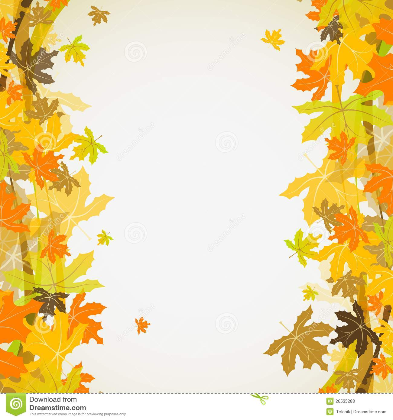 Fall Wallpaper Images Free: Maple Autumn Background, Vector Stock Vector