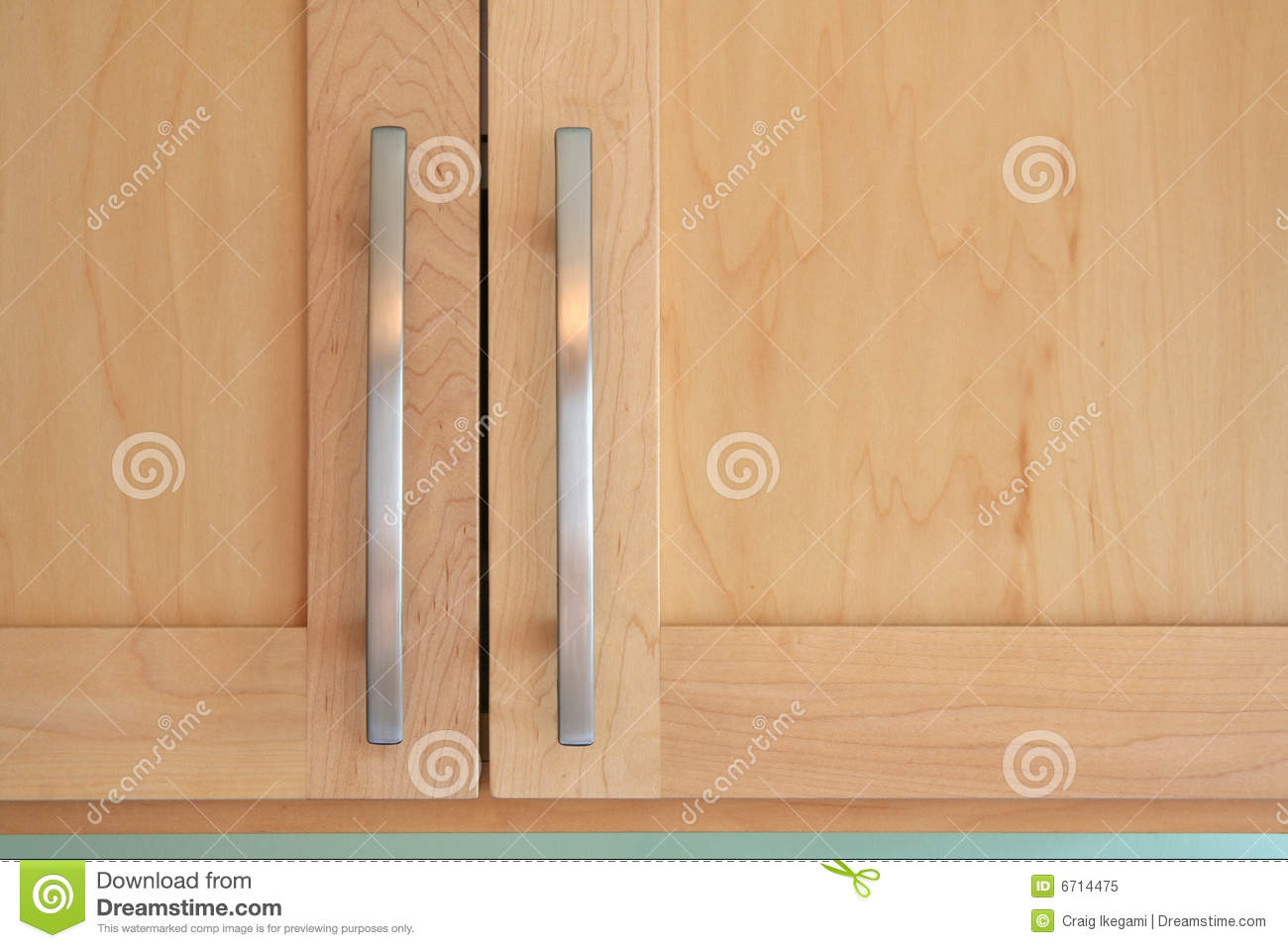 Maple Kitchen Cupboard Doors Maple Doors And Handles Royalty Free Stock Photo Image 6714475