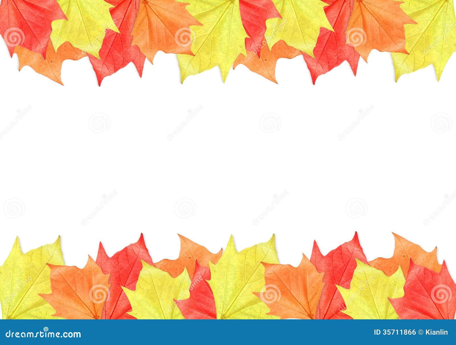 Maple Leaf Frame stock photo. Image of october, november - 35711866
