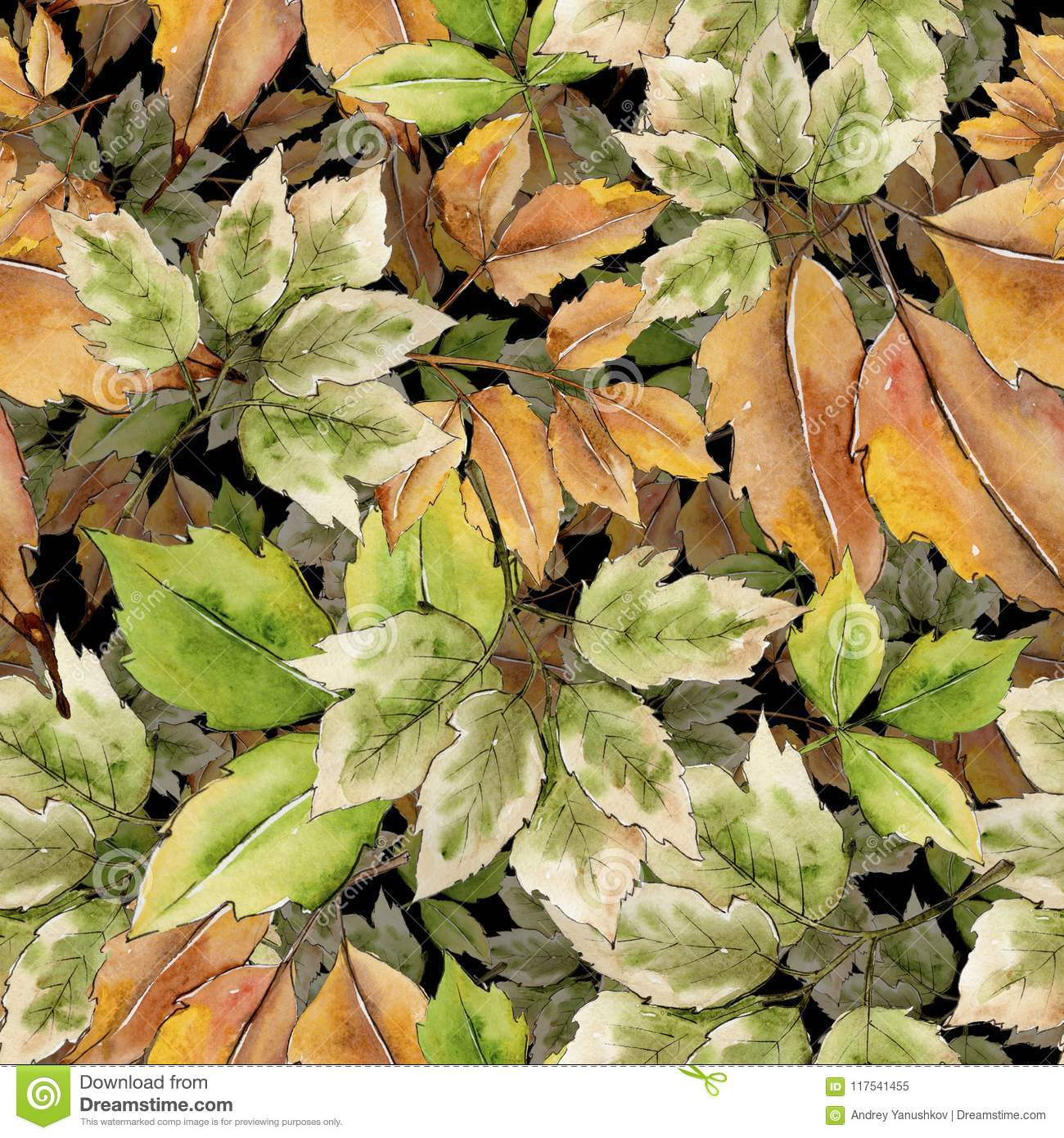 maple leaf. leaf plant botanical garden floral foliage. seamless