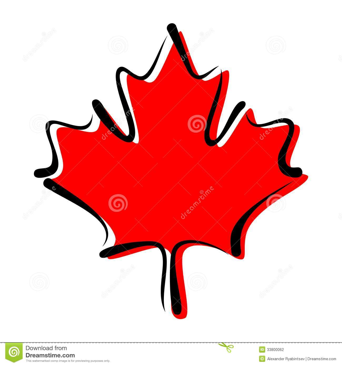 Maple Leaf Symbol Of Canada Stock Illustration Illustration Of