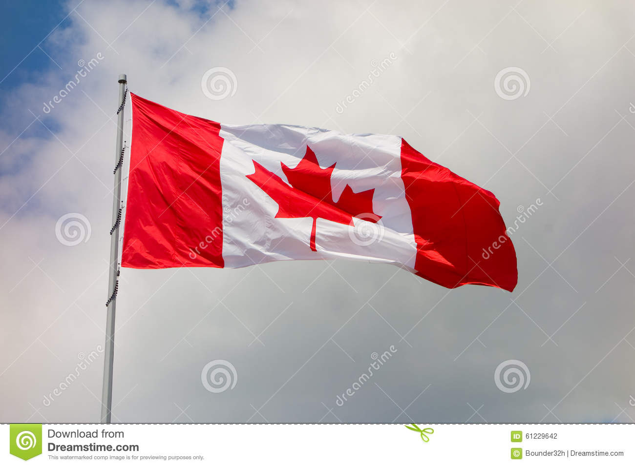 The Maple Leaf Symbol For Canada Stock Photo Image Of Clouds
