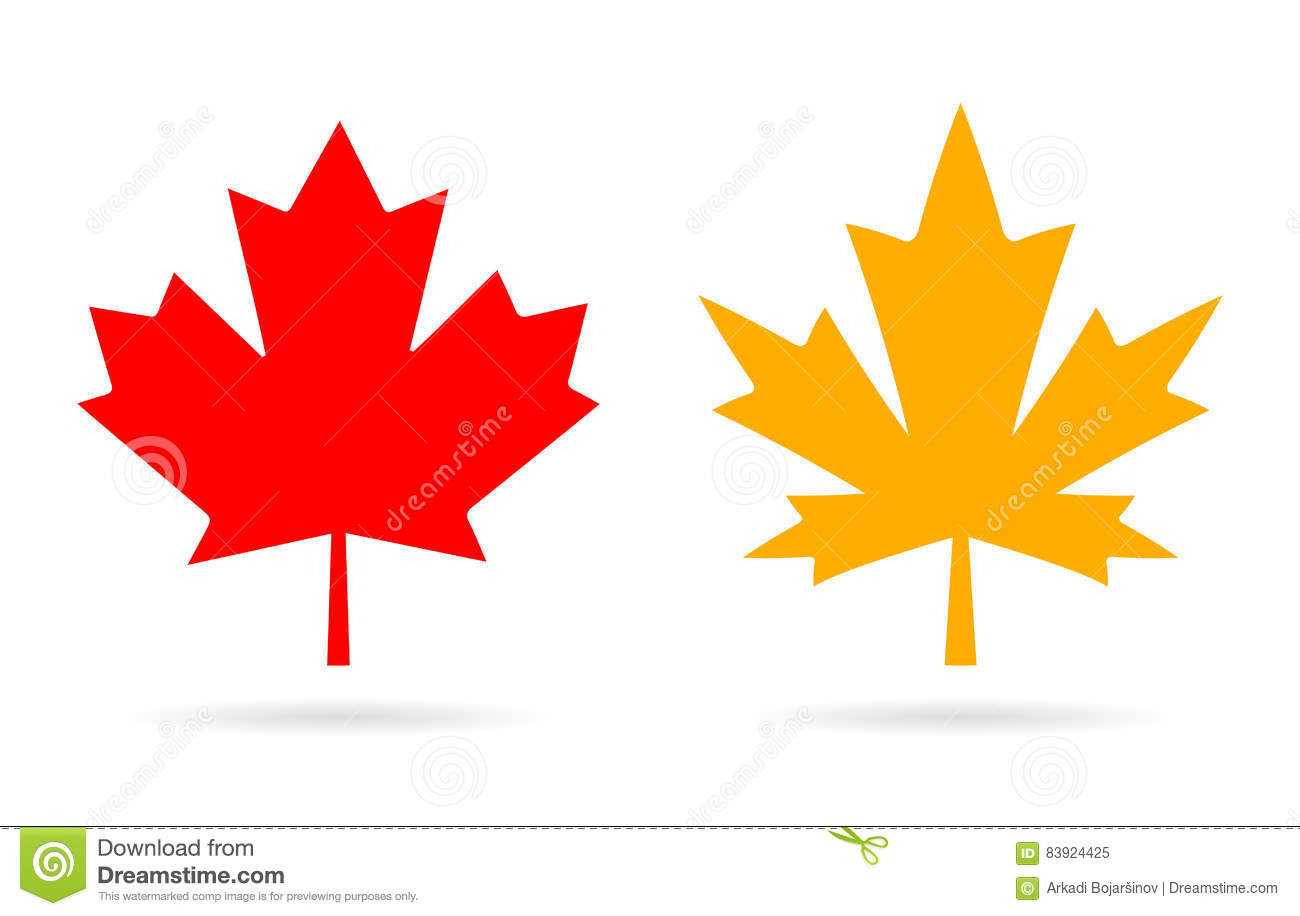 Maple Leaf Vector Icon Stock Vector - Image: 83924425