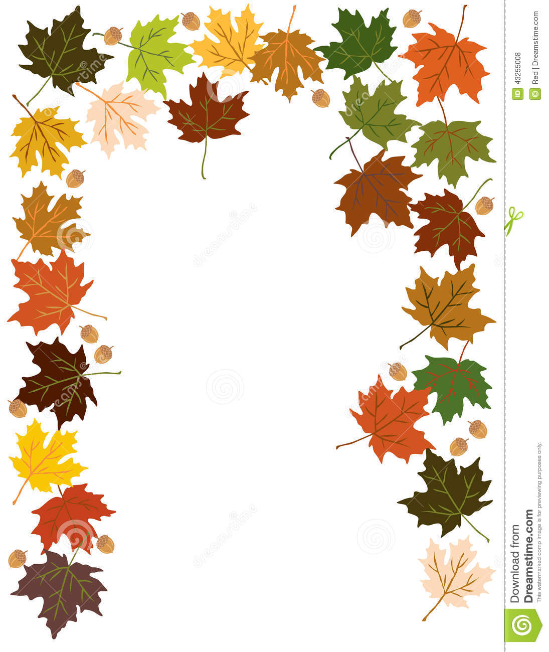 Image Gallery of Simple Fall Leaf Border