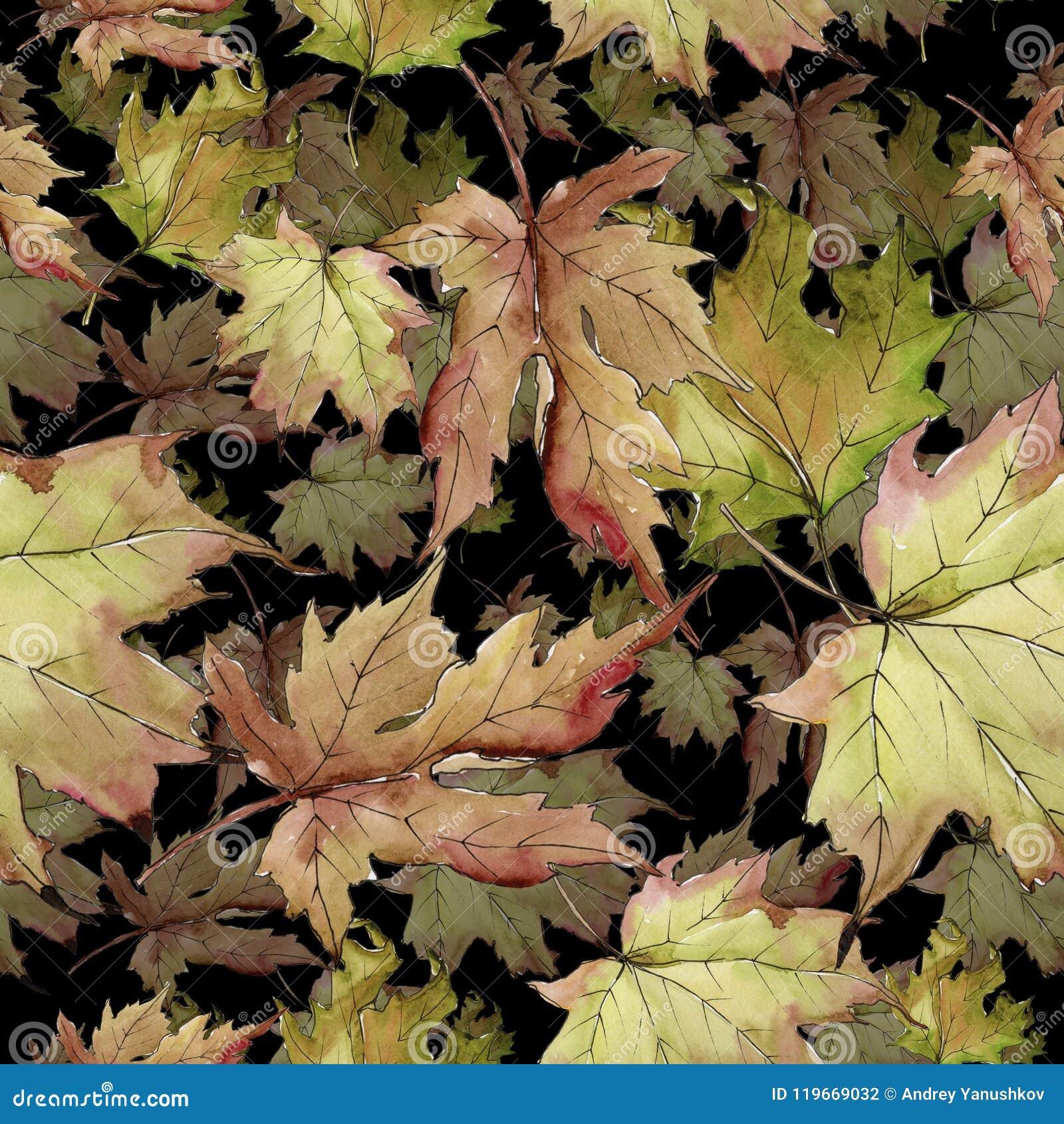 Maple Leaf. Leaf Plant Botanical Garden Floral Foliage. Seamless ...