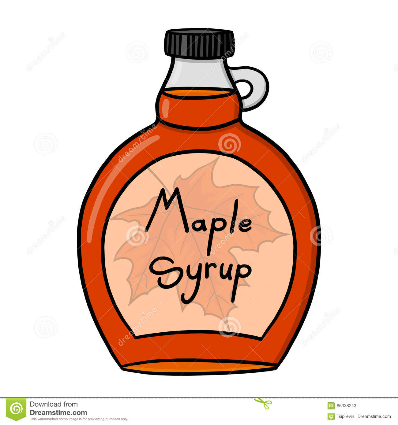 Maple Syrup Illustration Stock Illustration Illustration Of Container