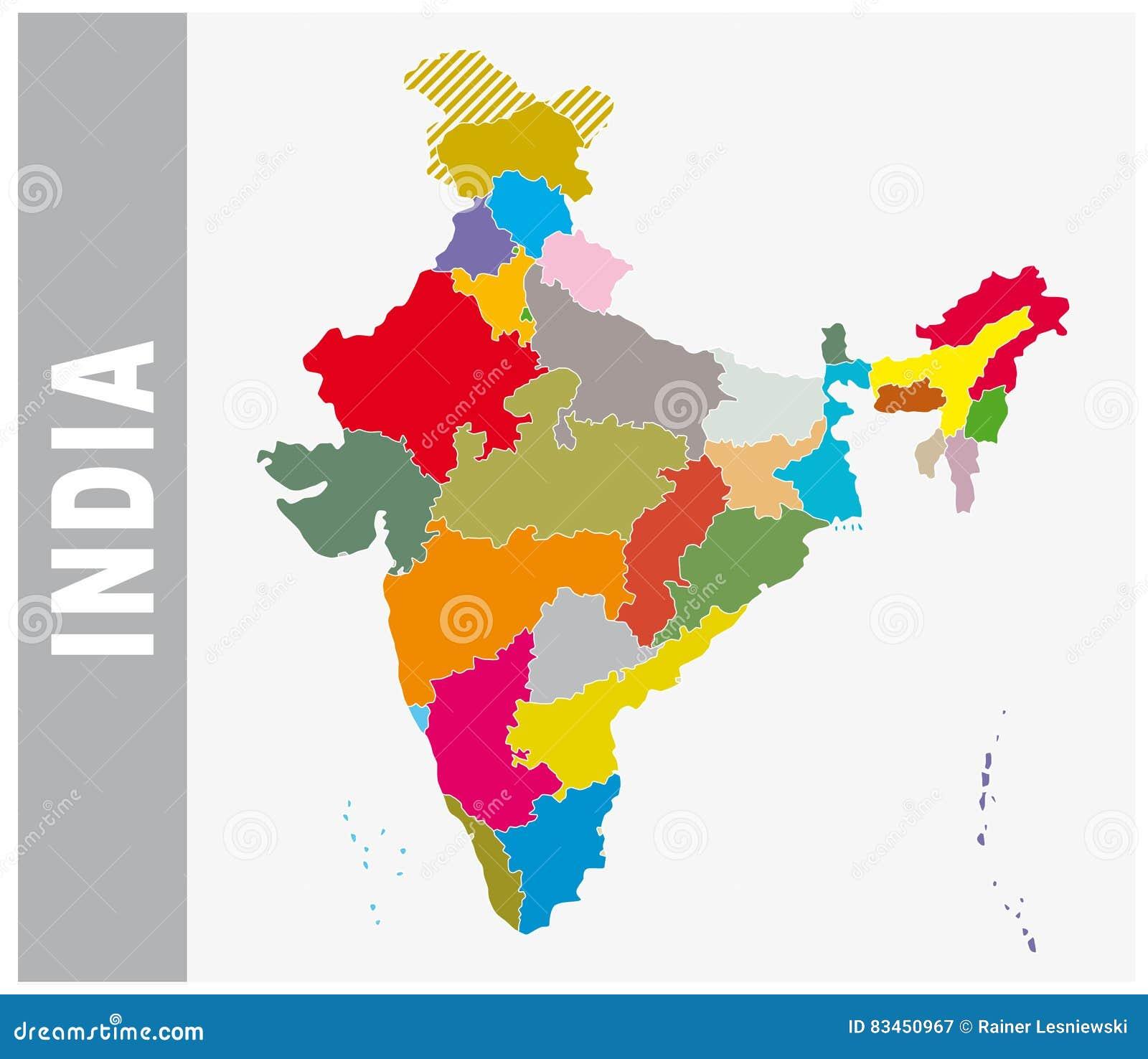 India Politica Cartina.Mappa Amministrativa E Politica Dell India Variopinta Illustrazione Vettoriale Illustrazione Di Icona Mascherina 83450967