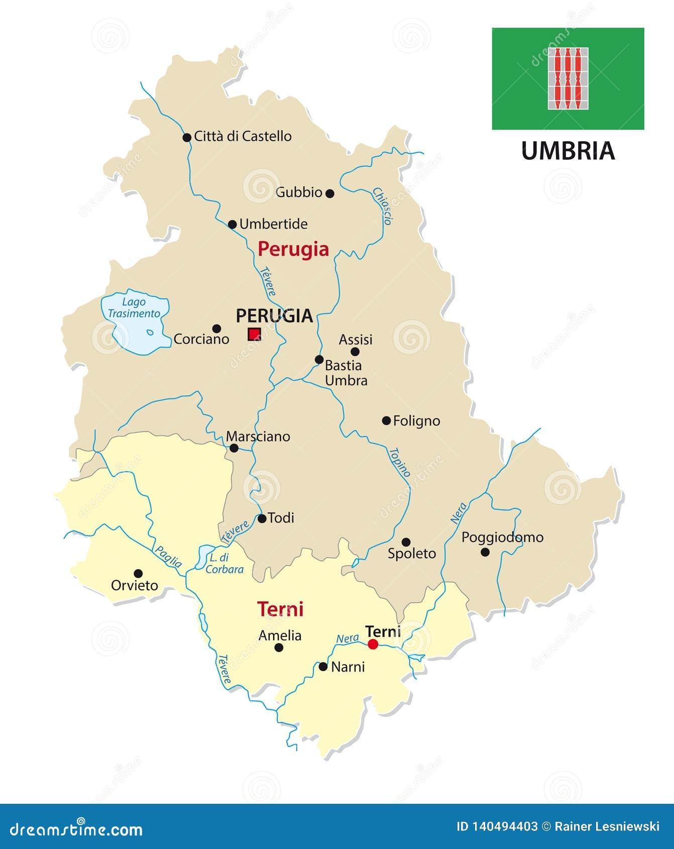 Mappa Dell Umbria Italia.Mappa Amministrativa E Politica Dell Umbria Con La Bandiera Illustrazione Vettoriale Illustrazione Di Cartografia Geografico 140494403