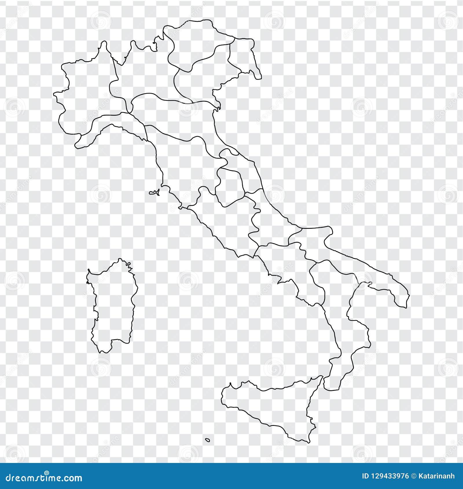 Cartina Italia E Province.Mappa In Bianco Italia Mappa Italia Di Alta Qualita Con Le Province Su Fondo Trasparente Per La Vostra Progettazione Del Sito Web Illustrazione Vettoriale Illustrazione Di Italia Geografico 129433976
