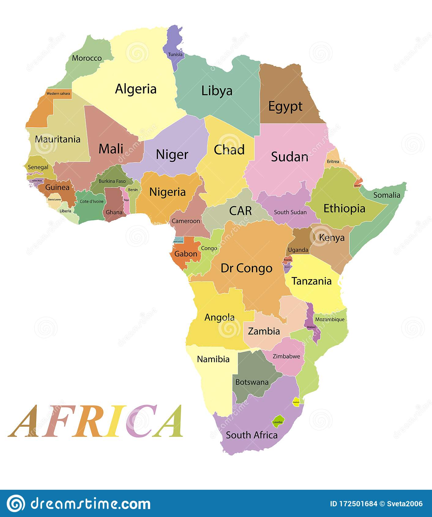 Cartina Africa Egitto.Mappa A Colori Dell Africa Con I Nomi Dei Paesi Illustrazione Vettoriale Illustrazione Di Economia Annotazione 172501684
