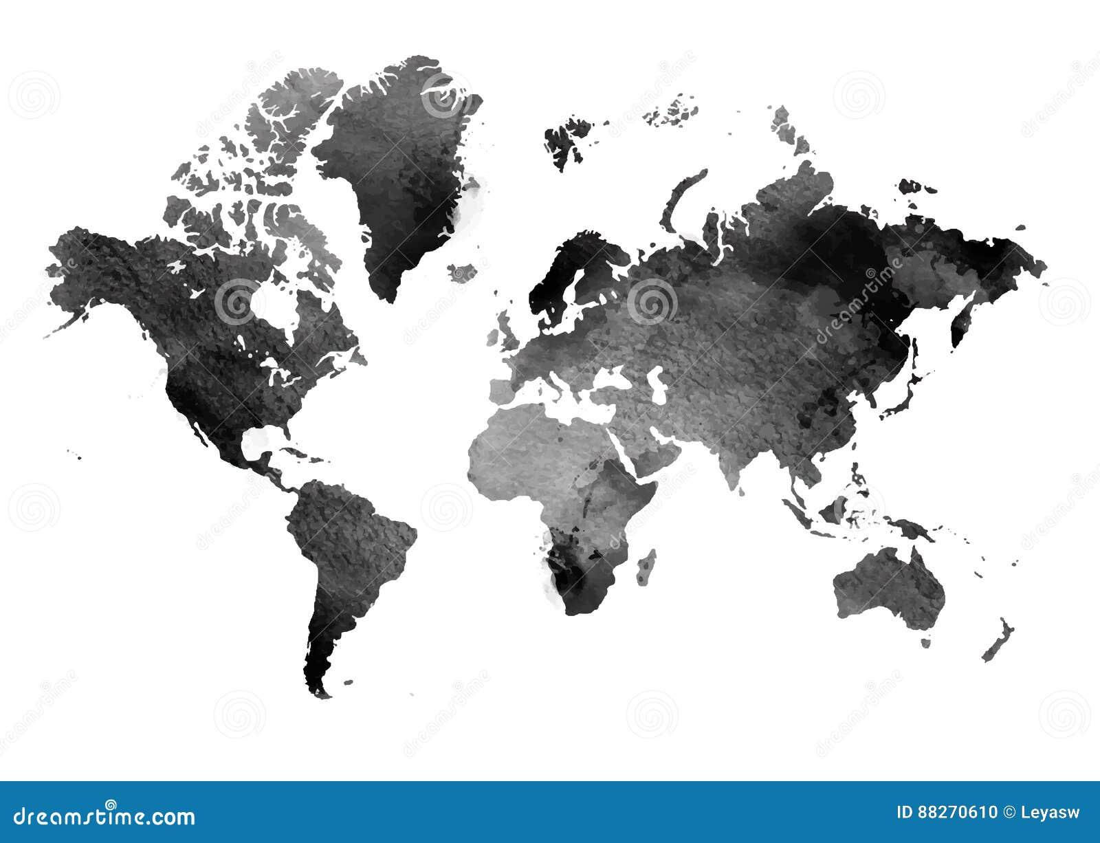 mappa d 39 annata in bianco e nero del mondo texture