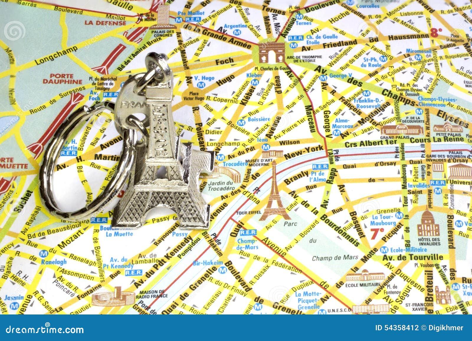 Cartina Stradale Di Parigi Con Monumenti