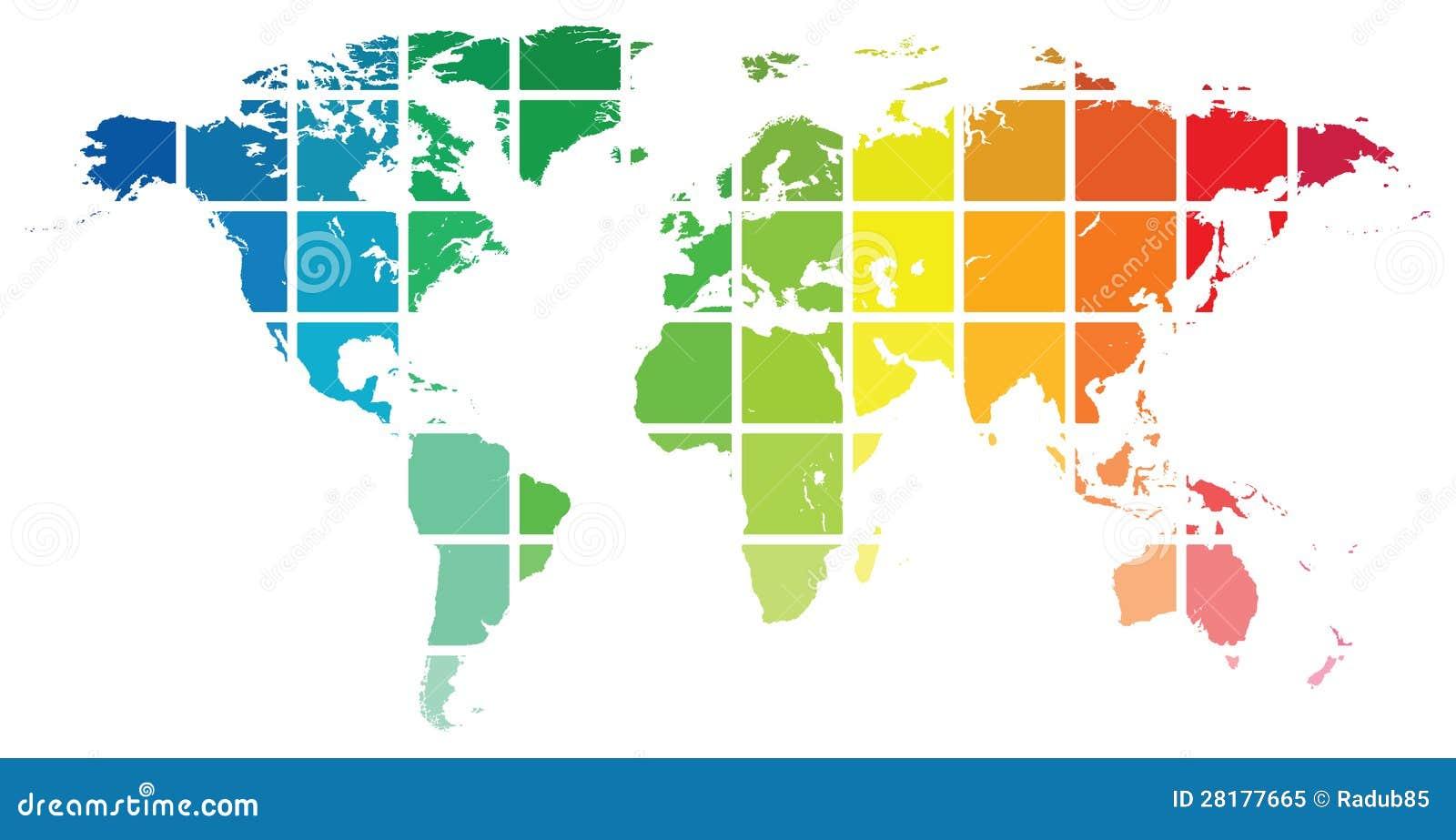 Mappa del mondo fotografia stock libera da diritti - Mappa del mondo contorno ks2 ...