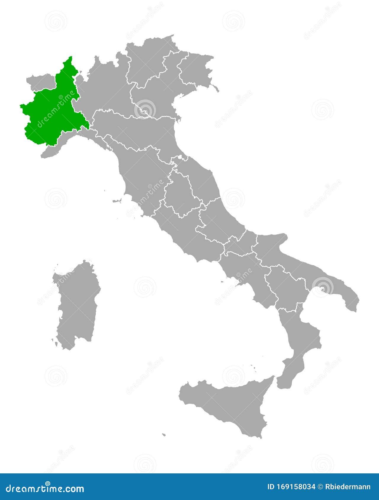 La Cartina Del Piemonte.Mappa Del Piemonte In Italia Illustrazione Vettoriale Illustrazione Di Vettore Programma 169158034
