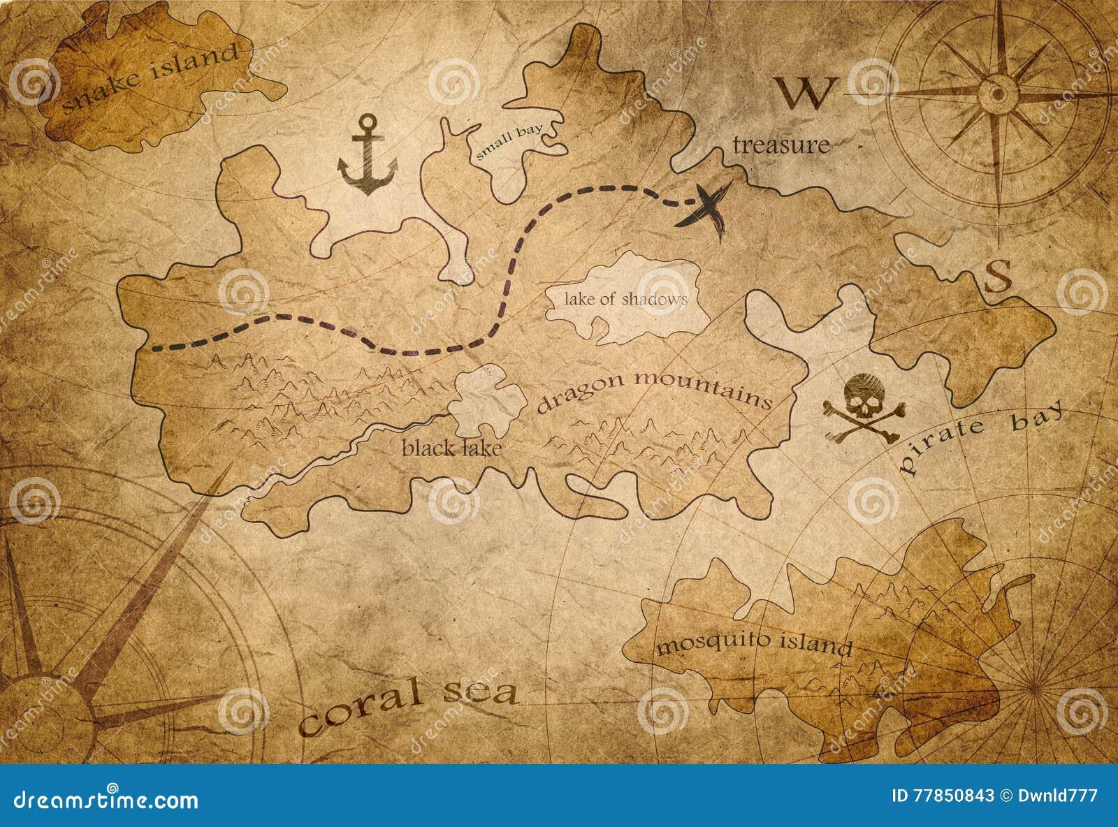 Mappa del tesoro del pirata