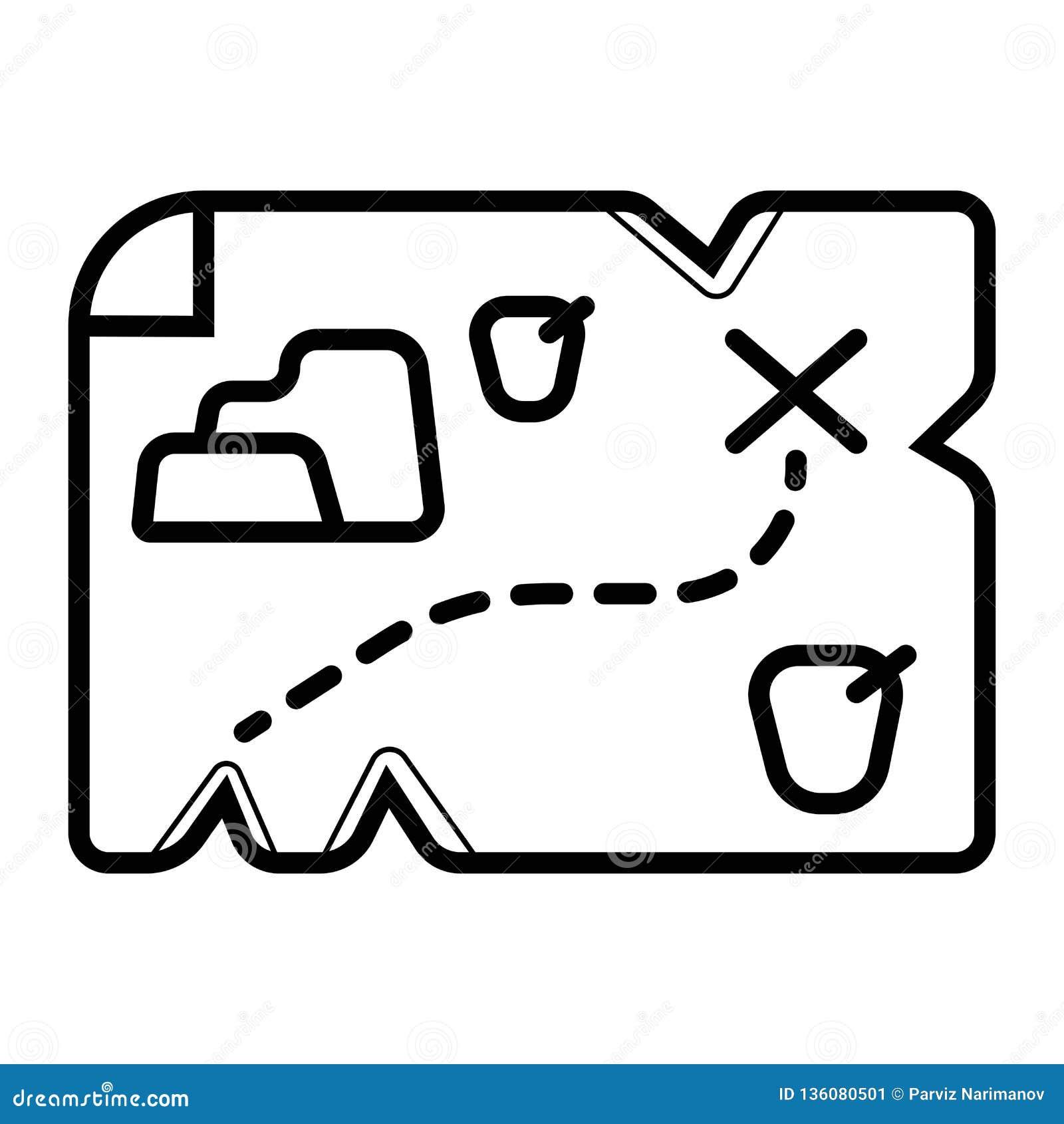 Mappa del tesoro su vecchio