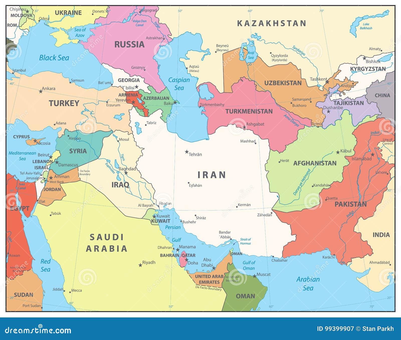 Cartina Asia Occidentale.Mappa Dell Asia Occidentale Illustrazione Vettoriale Illustrazione Di Continente Mongolia 99399907