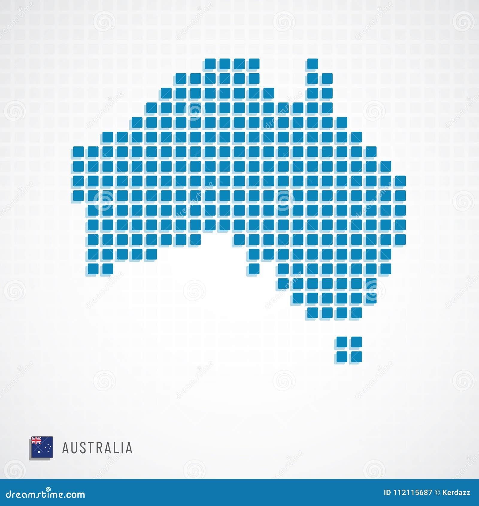 Mappa dell Australia ed icona della bandiera