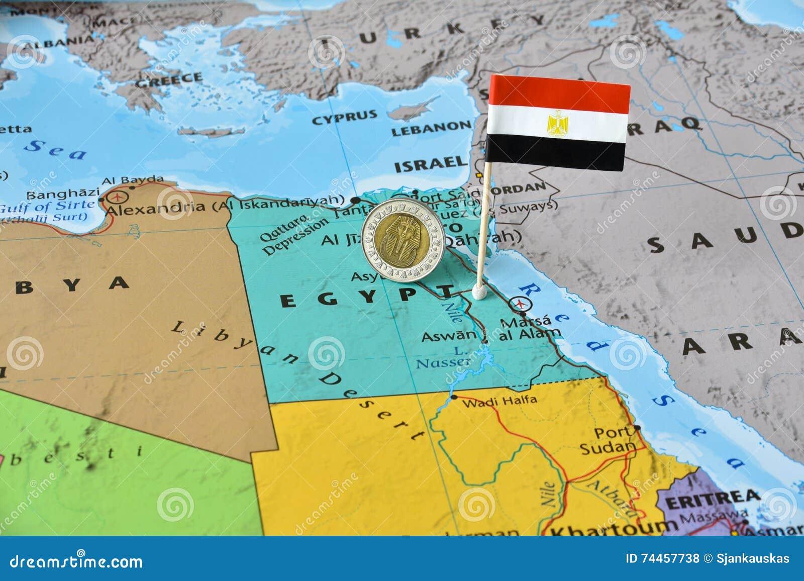 Cartina Turistica Egitto.Mappa Dell Egitto Della Bandiera E Della Sterlina Egiziana Fotografia Stock Immagine Di Notizie Dispersione 74457738