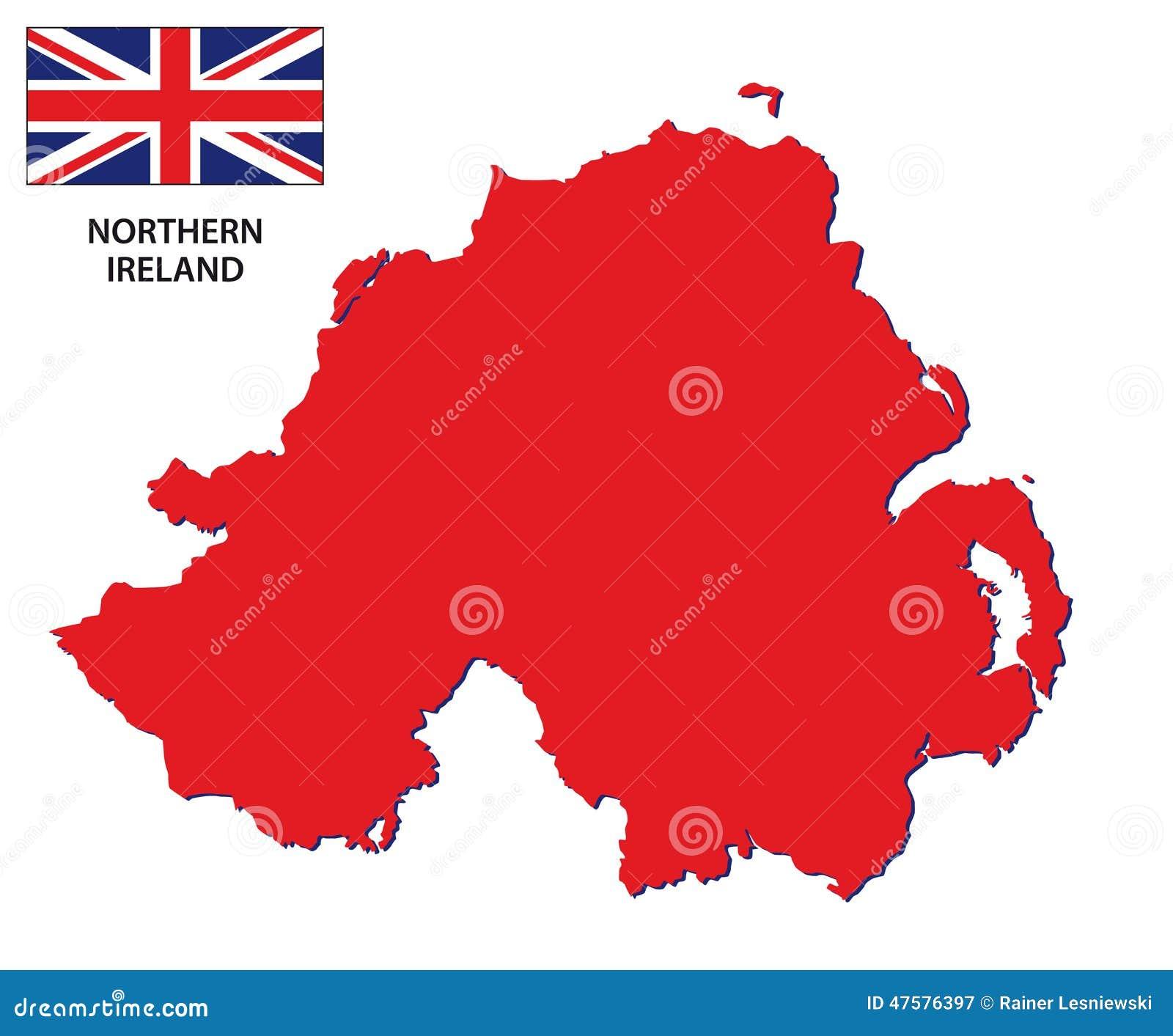 Irlanda Del Nord Cartina.Mappa Dell Irlanda Del Nord Con La Bandiera Illustrazione Vettoriale Illustrazione Di Regno Presa 47576397