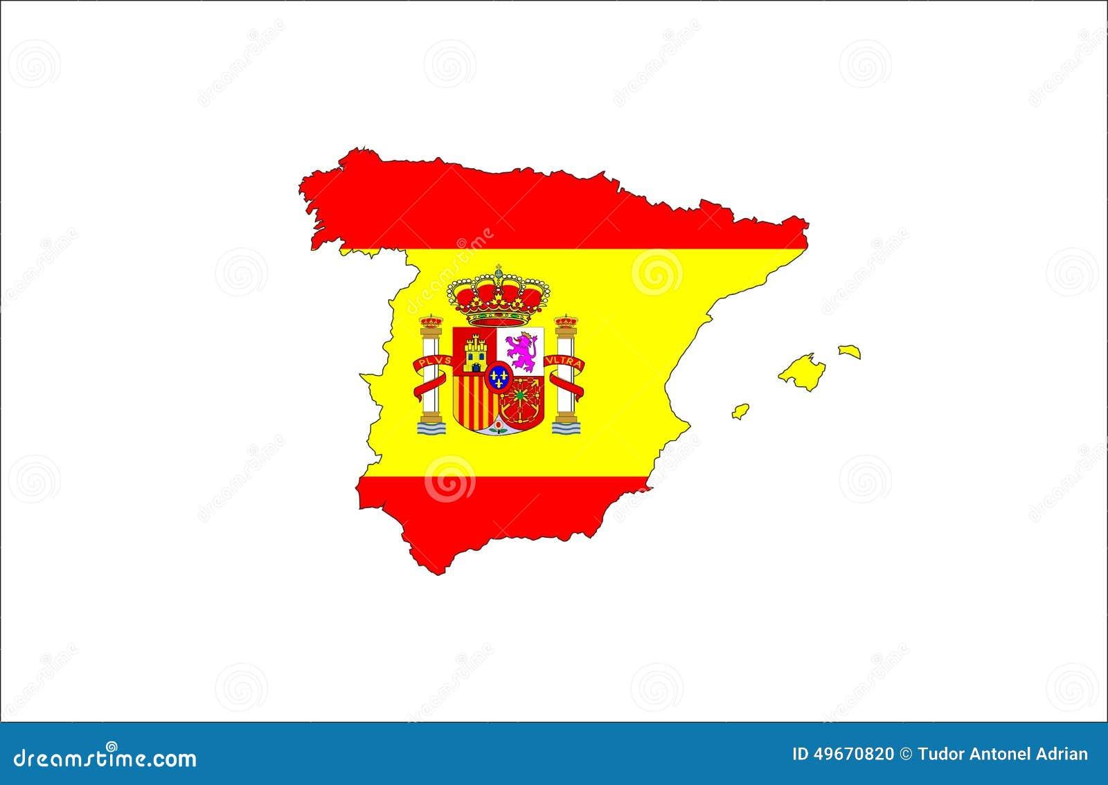 Mappa della bandiera della spagna illustrazione di stock for Programma della mappa della casa